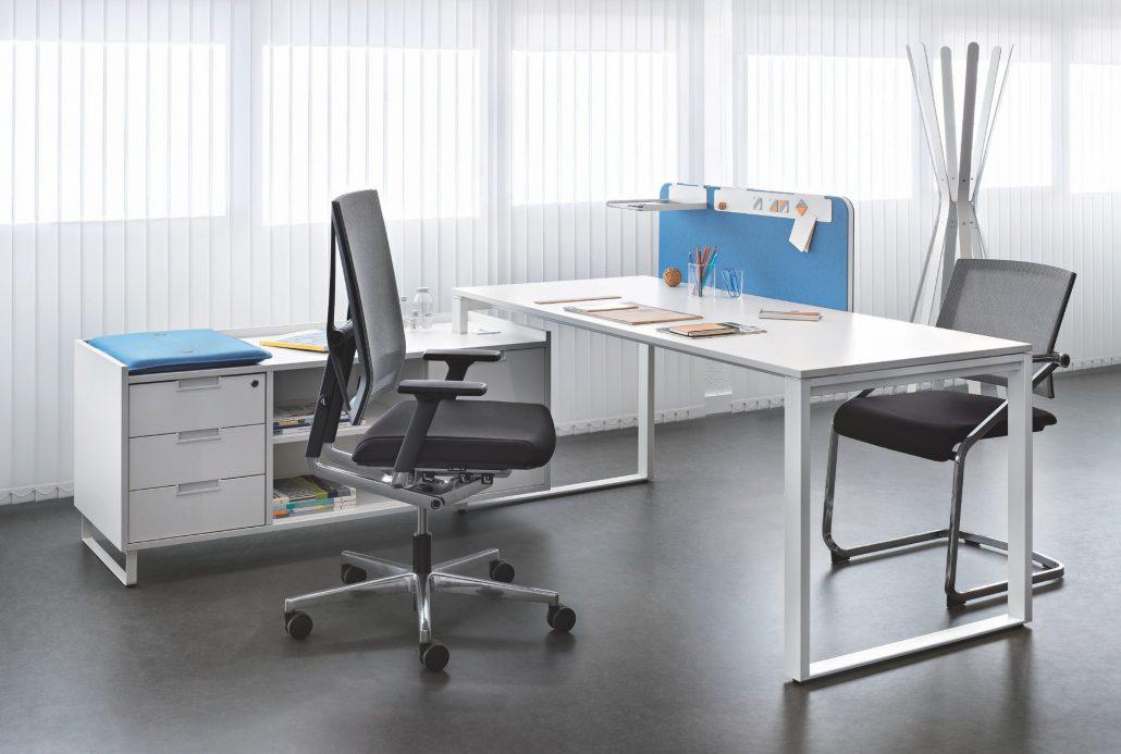Bureaux direction mélaminé pieds métal ubia mobilier bureau