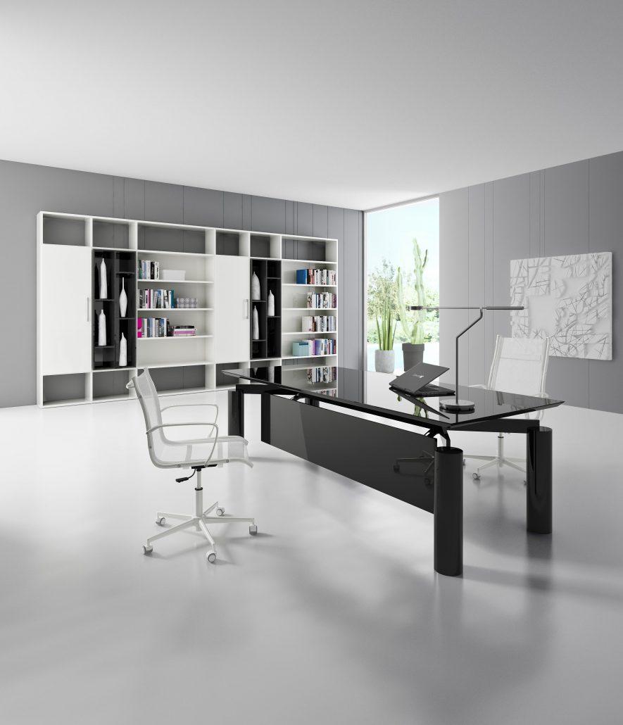 bureaux direction m lamin pieds m tal ubia mobilier bureau. Black Bedroom Furniture Sets. Home Design Ideas