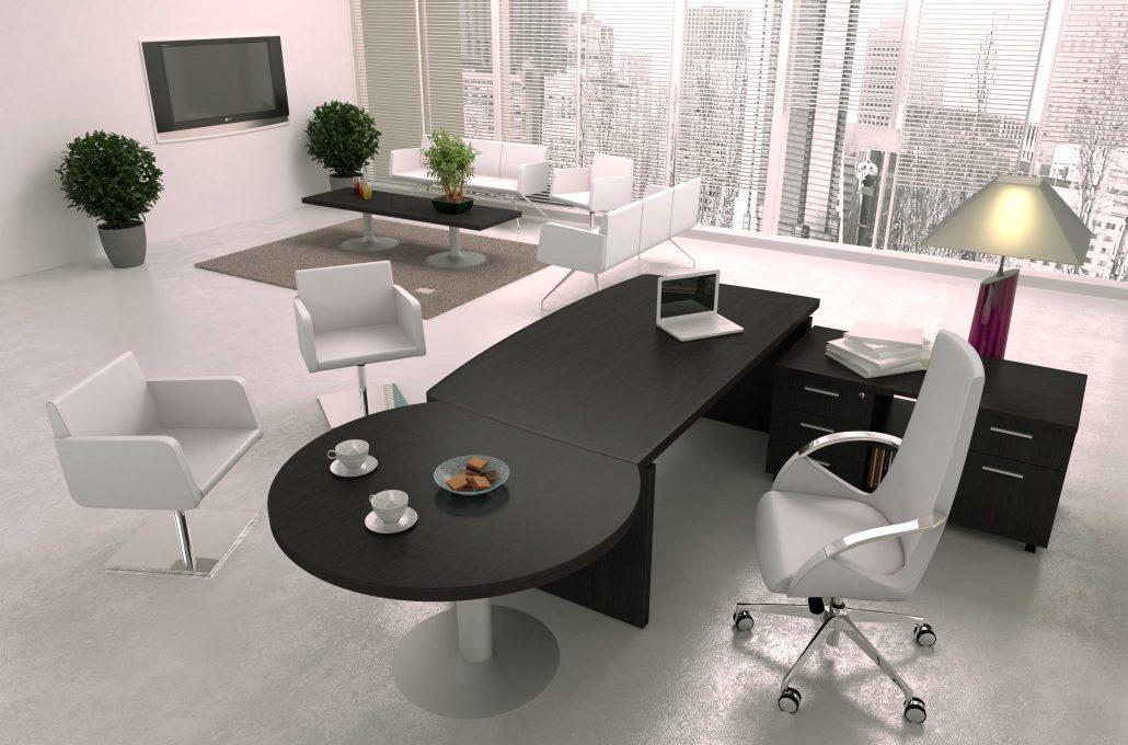 bureaux direction m lamin pieds panneau ubia. Black Bedroom Furniture Sets. Home Design Ideas