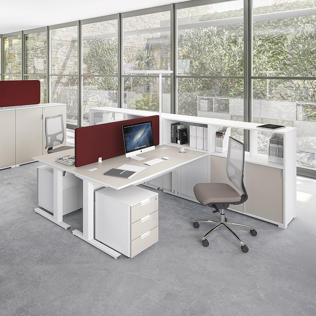 bureaux m lamin pieds m tal ubia mobilier bureau 94 ForMobilier Bureau 94