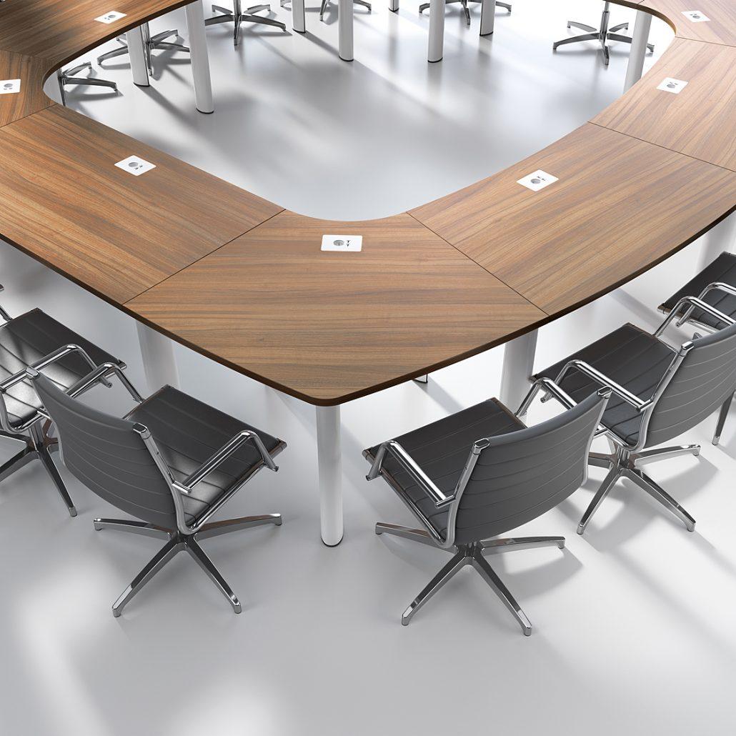 composition de tables facilement modulables ubia mobilier bureau. Black Bedroom Furniture Sets. Home Design Ideas