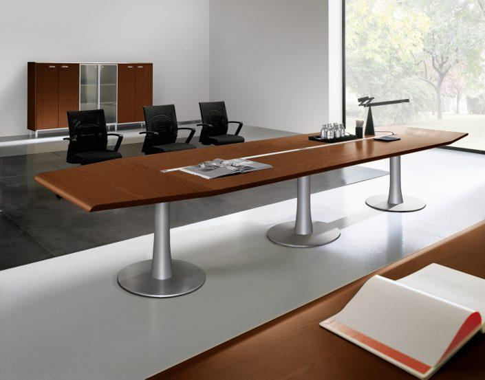 tables de r union bois intemporel et rac unia mobilier bureau. Black Bedroom Furniture Sets. Home Design Ideas