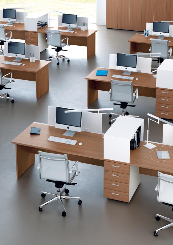 bureaux m lamin pieds panneaux couleur bois ubia mobilier 94. Black Bedroom Furniture Sets. Home Design Ideas