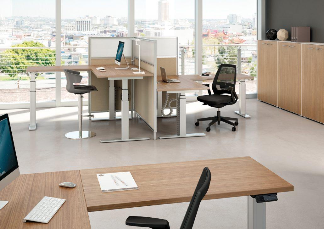 Bureau réglable en hauteur unia mobilier bureaux