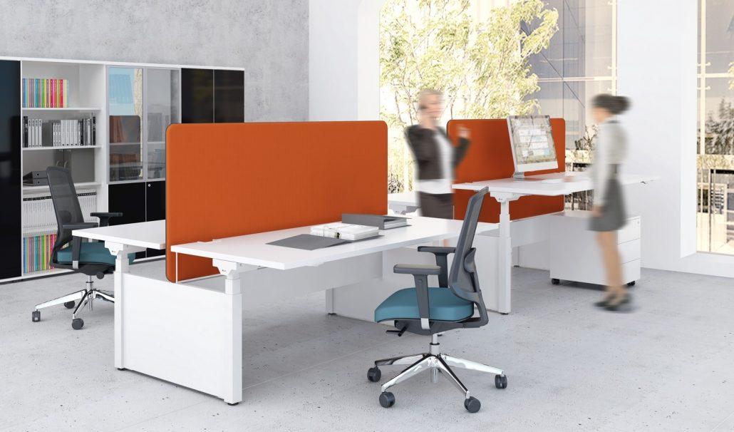 Bureau r glable en hauteur unia mobilier bureaux 94 for Bureau 4 postes de travail