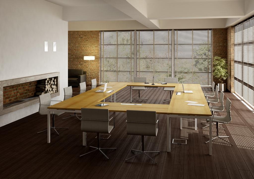 Salle de réunion Table de reunion mélaminé & stratifié Ubia mobilier bureau IDEA MEETING (11)