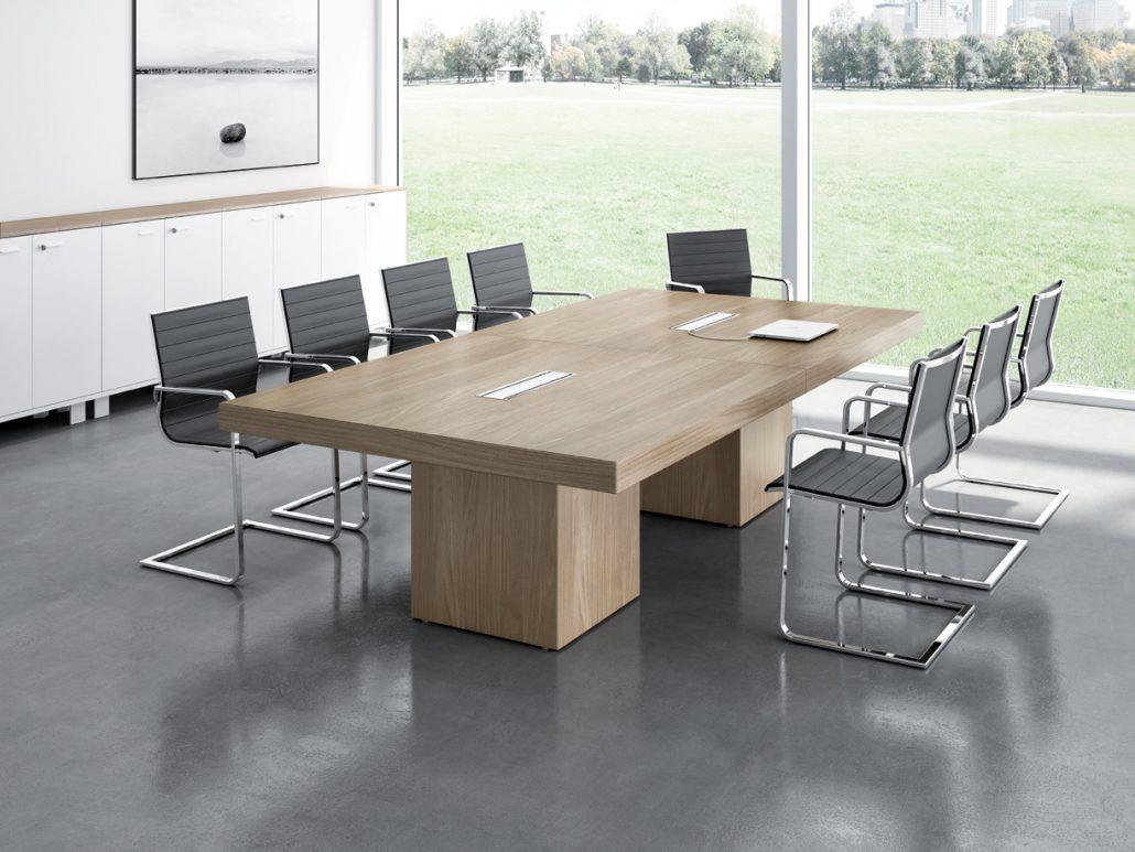 Salle de réunion Table de reunion mélaminé & stratifié Ubia mobilier bureau T45 MEETING (4)