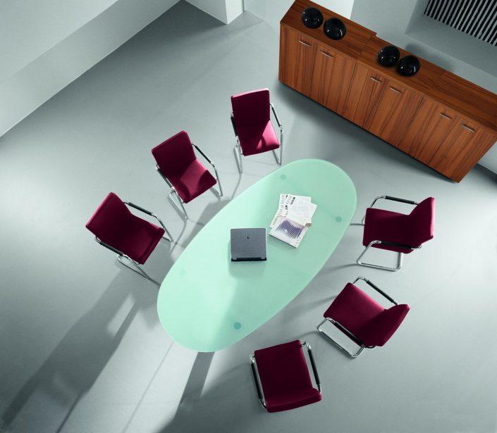 Salle de réunion Table de reunion verre Ubia mobilier bureau MEETING VERRE (2)