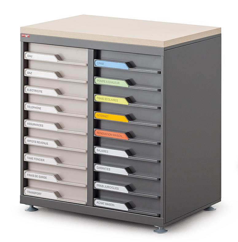 Armoires de bureau tiroir en fa ade ubia mobilier - Transformer une armoire en bureau ...