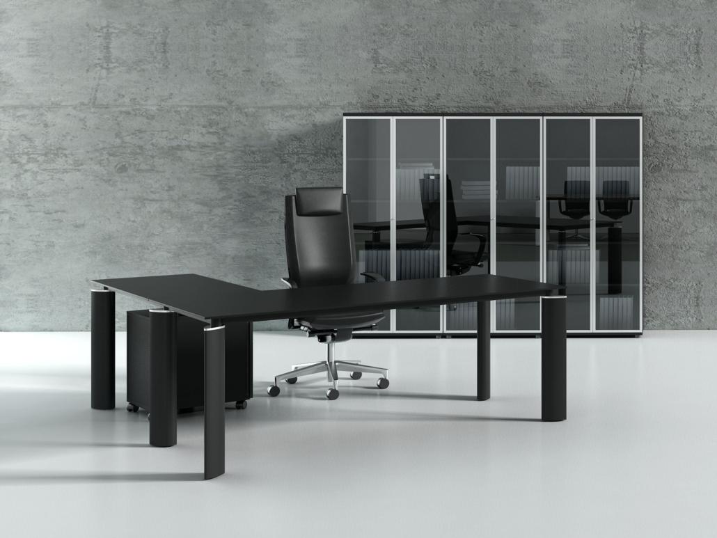 Bureau direction mélaminé pied métal Ubia mobilier bureau