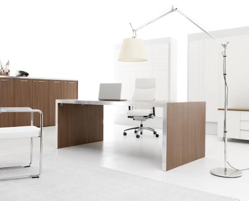 Bureau direction pied panneau Ubia mobilier bureau