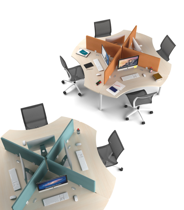 Bureaux mélaminé pieds métal Ubia mobilier bureau