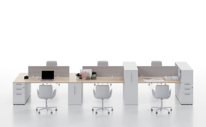 Bureaux mélaminé pieds panneaux Ubia mobilier bureau