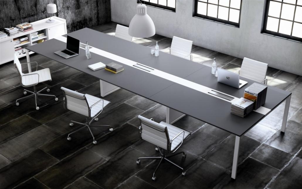 mobilier de bureau Table salle de reunion mélaminé & stratifié Ubia