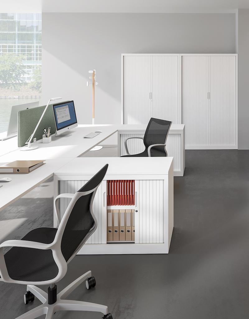 Armoire à rideaux - Ubia mobilier bureau 15