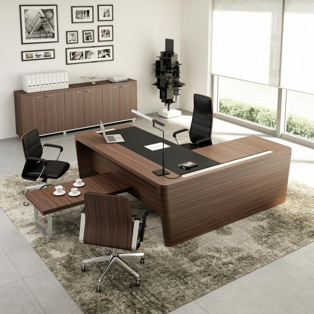 mobilier de bureau Bureau cuir Direction - Ubia mobilier bureau