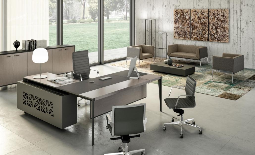 Bureau cuir Direction - Ubia mobilier bureau