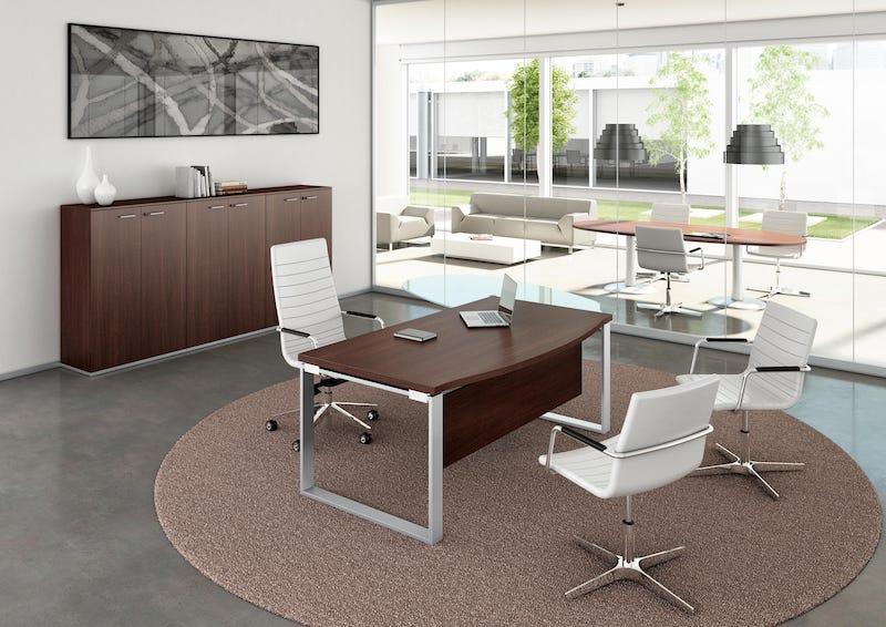 Bureau mélaminé pied métal Direction - Ubia mobilier bureau