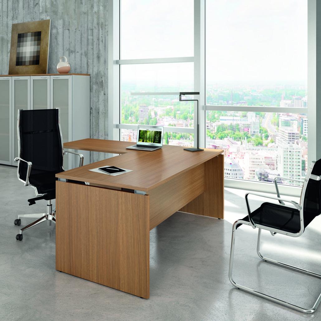 Bureau mélaminé pied panneau Direction - Ubia mobilier bureau