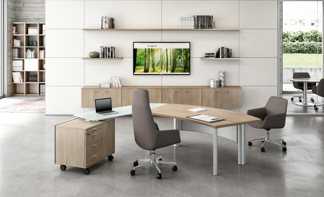 Bureau verre Direction - Ubia mobilier bureau
