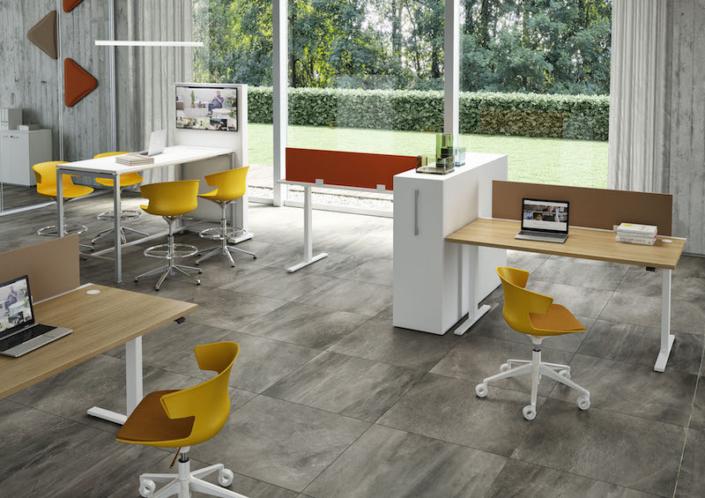 Bureaux réglables en hauteur - Ubia mobilier bureau