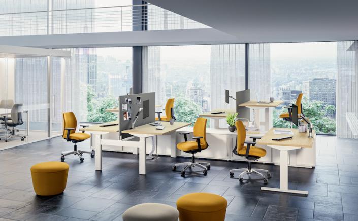 Bureaux réglables en hauteur - Ubia mobilier bureau POP AD