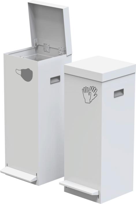 mobilier de protection covid poubelle tri sélectif - Ubia Mobilier bureau