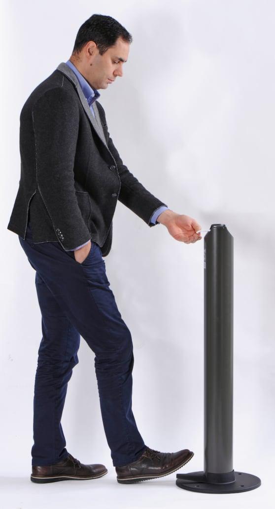 mobilier de protection covid distributeur gel sans contact - Ubia Mobilier bureau