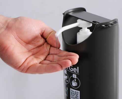 mobilier de protection covid distributeur gel - Ubia Mobilier bureau